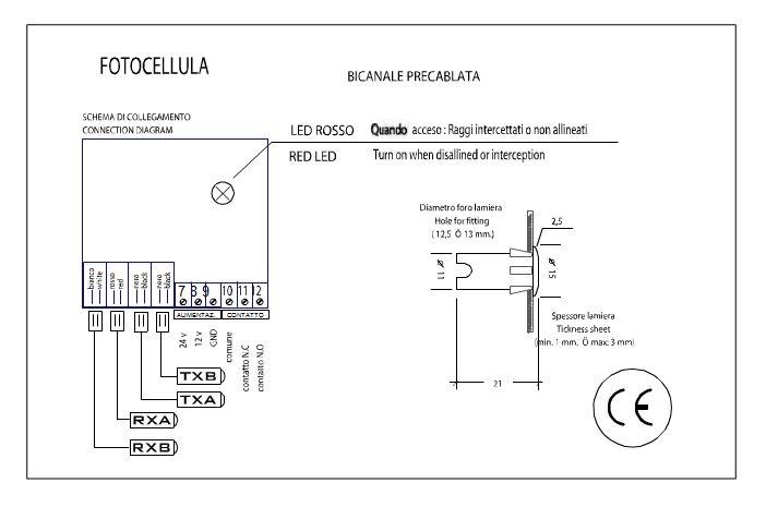 Schema Elettrico Per Fotocellula : Area download ricambi e componenti per ascensori